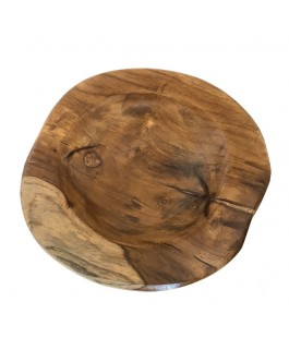 Little Natural Bowl in Solid Teak Wood