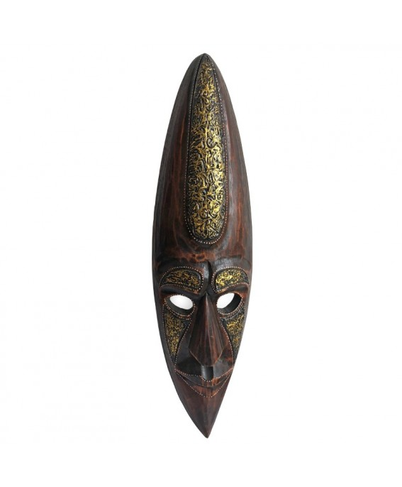 Mask of Albesia Wood and Gold Foil
