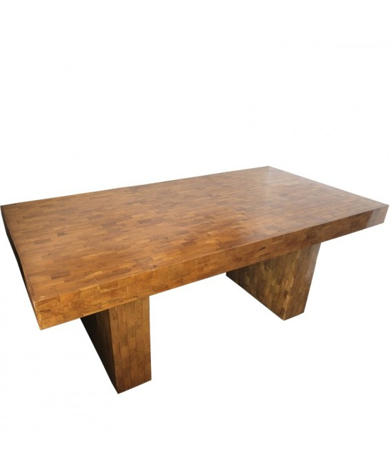Table in Pieces of Teak Wood
