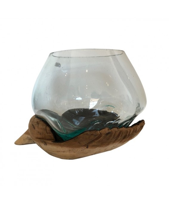 Big Blown Glass Aquarium and Base Hand Design