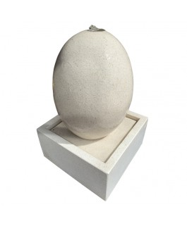 Fountain Egg Reconstituted White Marble
