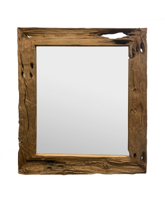 Antique Giant Mirror in Solid Teak Wood