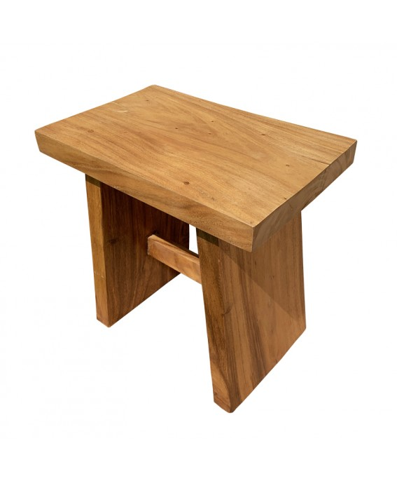 Straight Stool in Suar Wood Colorless Light Brown