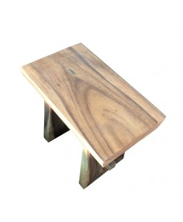 Straight Stool in Natural Suar Wood