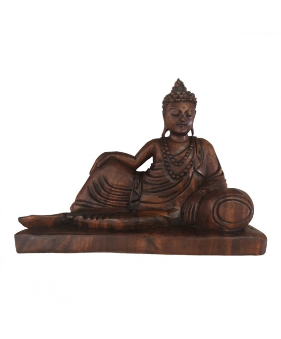 Statue of the Elongated Buddha in Exotic Wood