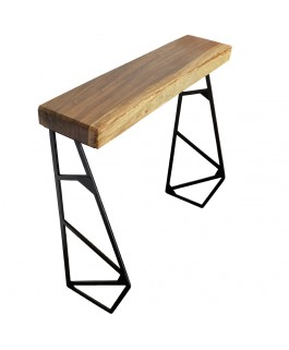 Suar Wood Console and Metal Leg